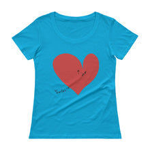 Load image into Gallery viewer, Your Love and Me Red Heart Ladies' Scoopneck T-Shirt