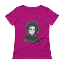 "Load image into Gallery viewer, EDWARD SCISSORHANDS ""Give me a hand"" Ladies' Scoopneck T-Shirt"