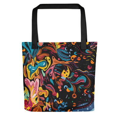 Summer Fruit Black Tote bag