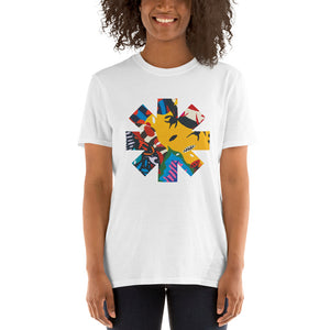 Red Hot Chili Pepper Abstract Yellow Short-Sleeve Unisex T-Shirt