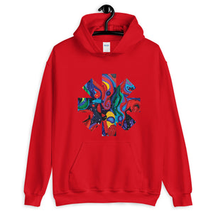 Red Hot Chili Pepper Star  Abstract Red Painting Unisex Hoodie