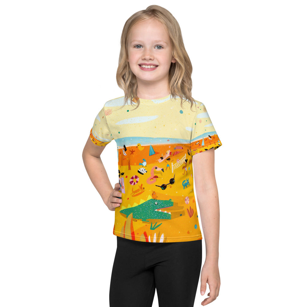 The Beach all over print Kids T-Shirt