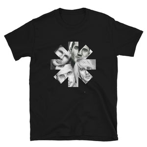 Red Hot Chili Peppers Charcoal Portraits Star Short-Sleeve Unisex T-Shirt