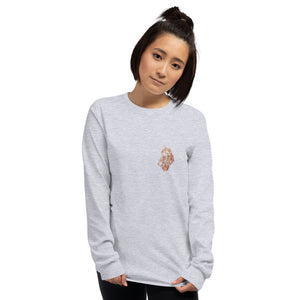 "Chinese Oracle Bone ""To pray for blessings with a bottle of wine"" Long Sleeve T-Shirt"