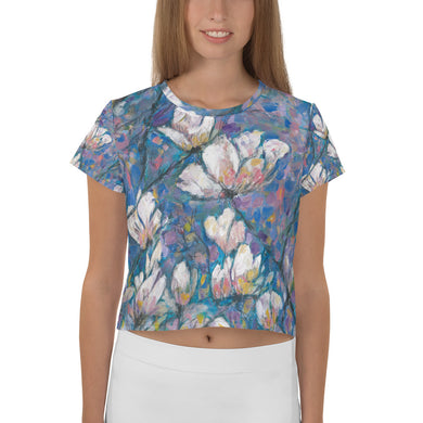 Magnolia All-Over Print Crop Tee