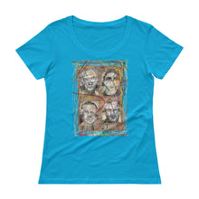 "Load image into Gallery viewer, RHCP Red Hot Chili Peppers ""Freaky Styley"" Collage Ladies' Scoopneck T-Shirt"