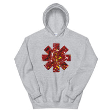 Load image into Gallery viewer, Red Hot Chili Pepper Star Splattered Paint Unisex Hoodie