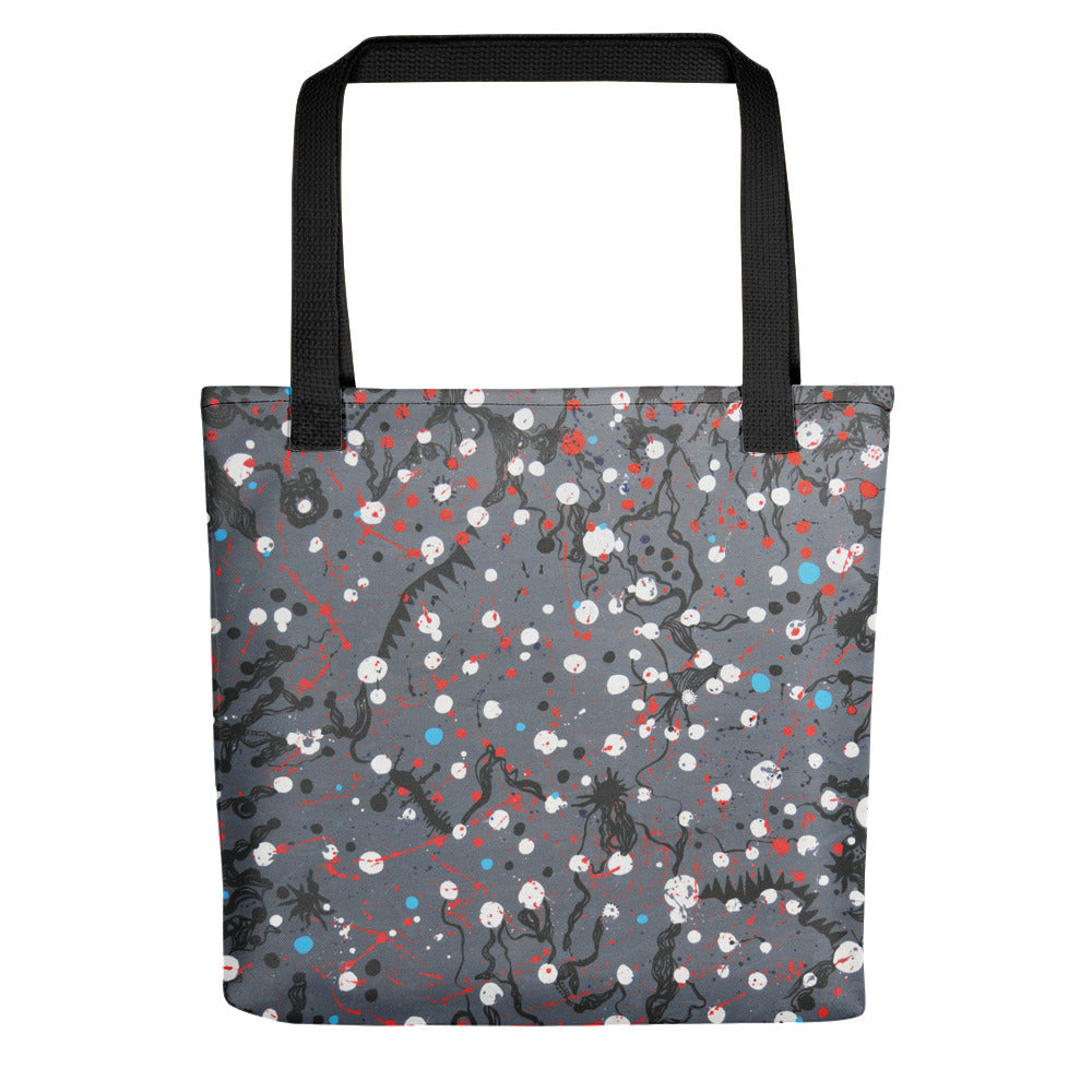 Abstract Grey Tote bag