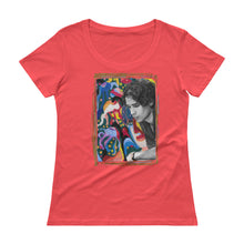 "Load image into Gallery viewer, JEFF BUCKLEY ""Forget Her"" Ladies' Scoopneck T-Shirt"