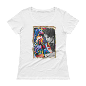 "JEFF BUCKLEY ""Forget Her"" Ladies' Scoopneck T-Shirt"