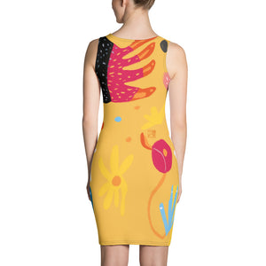 Abstract Yellow Dress