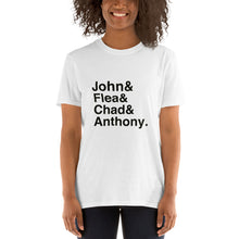 Load image into Gallery viewer, RHCP John Flea Chad & Anthony Short-Sleeve Unisex T-Shirt