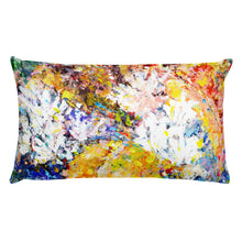 "Load image into Gallery viewer, Flower Series Double-sided ""Blue Leaves"" Cushion"