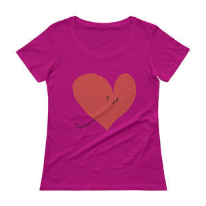 Your Love and Me Red Heart Ladies' Scoopneck T-Shirt
