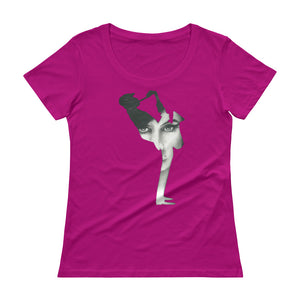 AMY WINEHOUSE Jazz Saxophone Ladies' Scoopneck T-Shirt