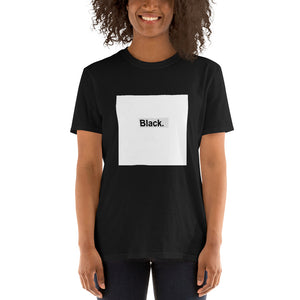 Black (White square) Short-Sleeve Unisex T-Shirt