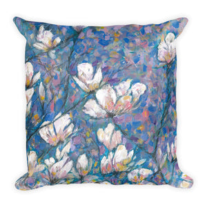 "Flower series double-sided ""Magnolia"" cushion"