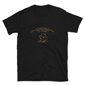 "LEONARD COHEN ""I love your body and your spirit and your clothes"" Line Drawing Short-Sleeve Unisex T-Shirt"