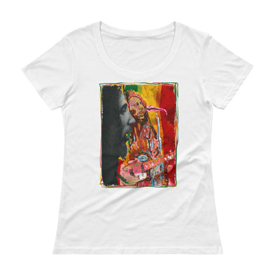 BOB MARLEY Ladies' Scoopneck T-Shirt