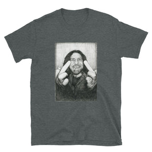 Eddie Vedder Middle Finger Short-Sleeve Unisex T-Shirt