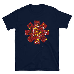 Red Hot Chili Pepper Star Splattered Paint Short-Sleeve Unisex T-Shirt