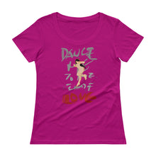 "Load image into Gallery viewer, VIVI ""Dance Me to the end of love"" Ladies' Scoopneck T-Shirt"