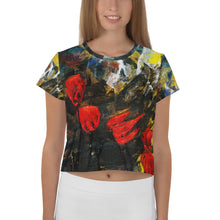 Load image into Gallery viewer, Poppy Storm All-Over Print Crop Tee