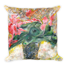 "Load image into Gallery viewer, Flower Series Single-sided ""Pink Cyclamens"" Cushion"