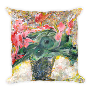 "Flower Series Single-sided ""Pink Cyclamens"" Cushion"