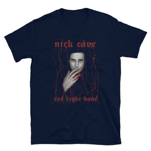NICK CAVE Dripping Blood Red Right Hand Short-Sleeve Unisex T-Shirt