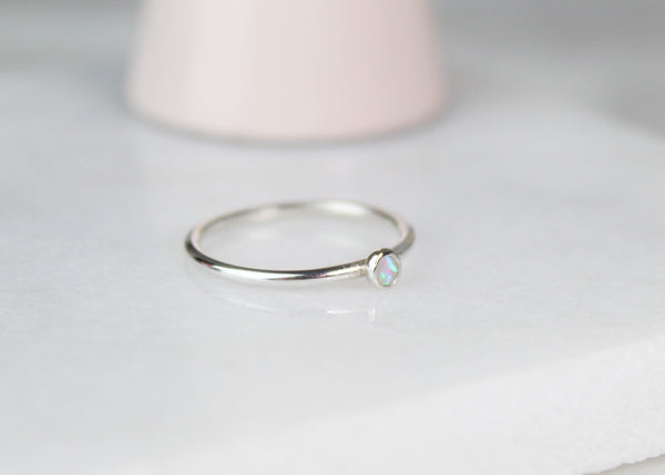 Australian Opal Gemstone Ring