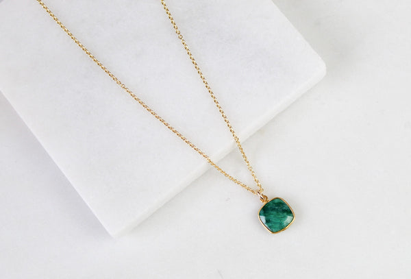 Emerald Gemstone Necklace