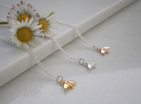 Bee Necklace - Rose Gold