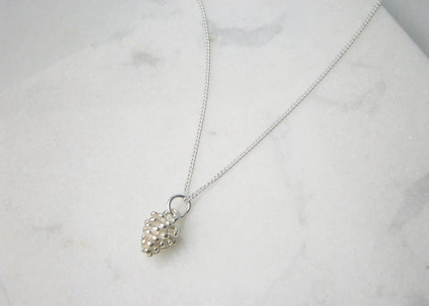 Pine Cone Necklace - Silver