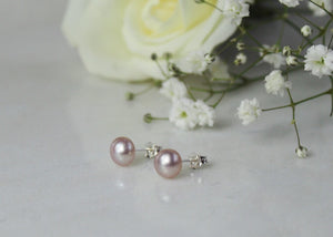 Freshwater Pearl Earrings - Rose