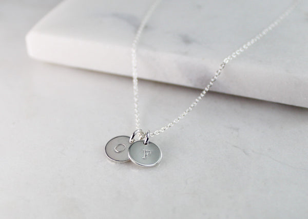 Double Mini Disc Necklace