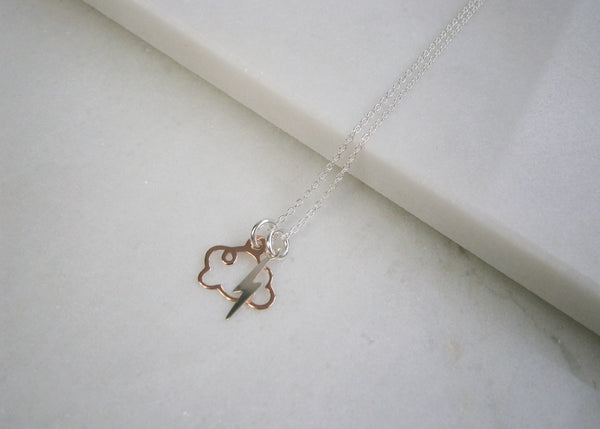 Lightning Storm Necklace - Rose Gold