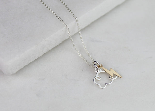 Lightning Storm Necklace - Silver