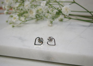 Silver Heart Earrings