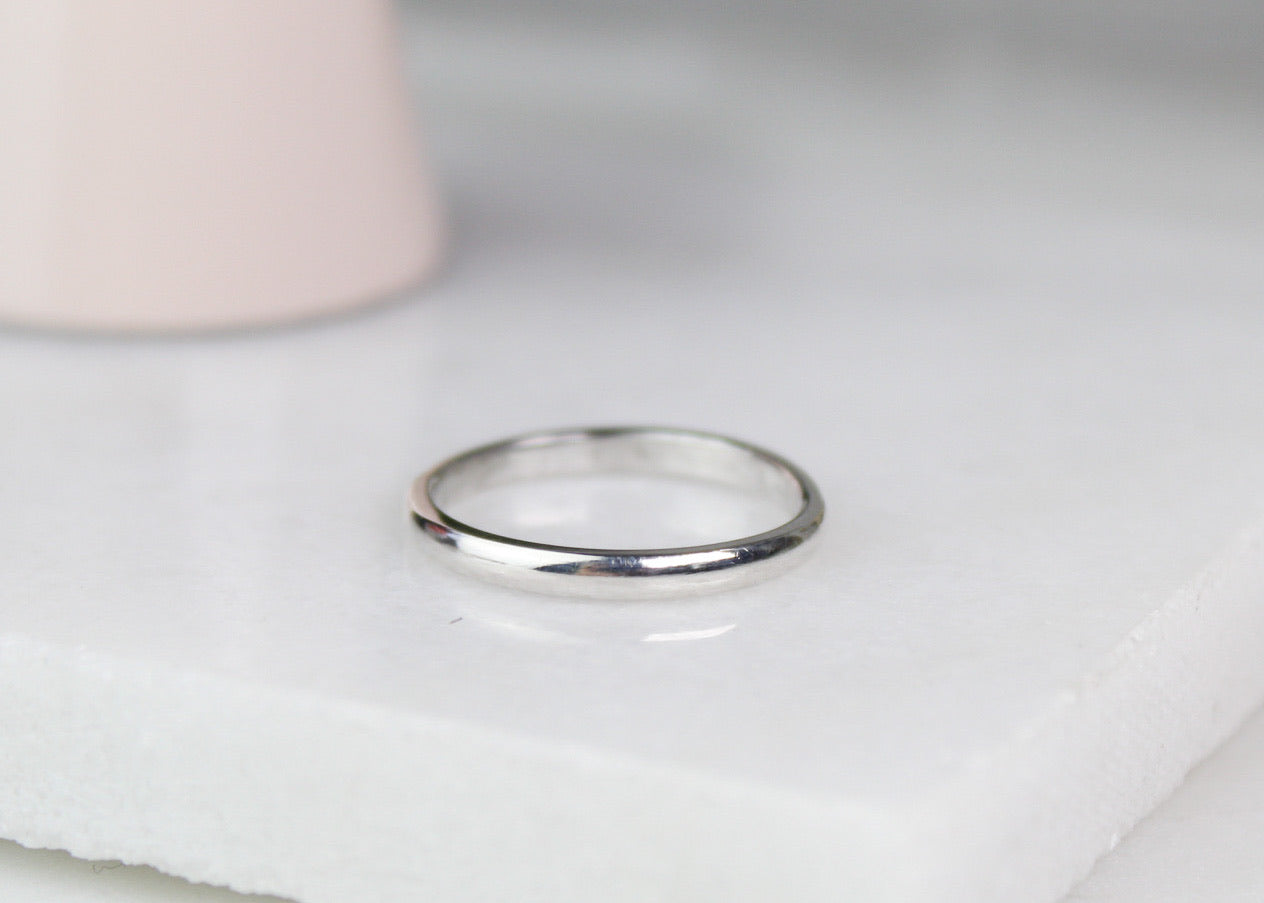 Plain Sterling Silver Stacking Ring