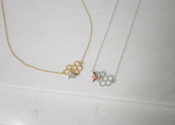 Gold Worker Bee Necklace