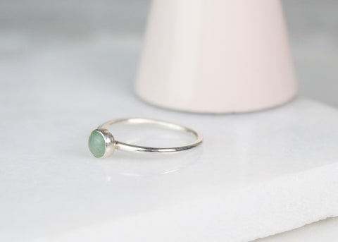 Green Aventurine Gemstone Ring