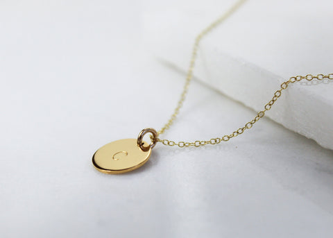 Midi Disc Necklace - Gold