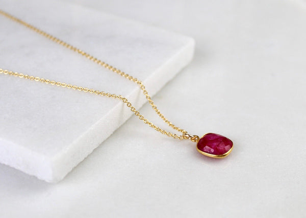 Ruby Gemstone Necklace