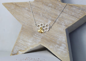 Worker Bee Necklace - Silver/Gold