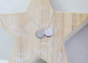 Double Midi Disc Necklace