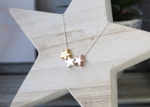 Triple Star Necklace