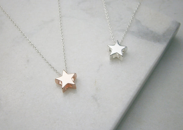 Star Necklace - Rose Gold