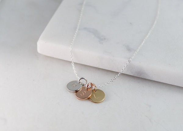 Triple Mini Disc Necklace