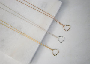 Floating Heart Necklace - Gold